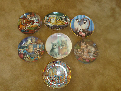7 Collectable plates Cat theme