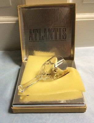 Atlantis Portugal Lead Crystal Bell Figurine Hand Blown NEW IN BOX FREE SHIP.
