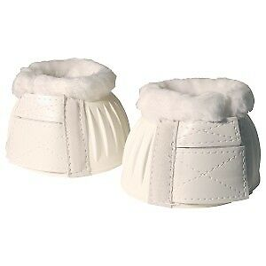 Rubber Ribbed Bell Boots W/fleece Horse And Equestrian