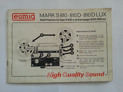 Eumig Mark S810 810D 810 DLUX
