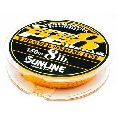 SUNLINE Super PE 8 Braid Orange Japan 8lb 10lb 12lb 15lb 20lb 25lb - 30lb 150m