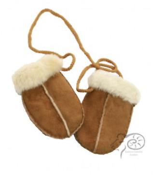 Childrens Unisex Boys Girls Sheepskin Mittens Gloves Gifts