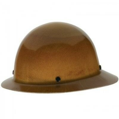 MSA Tan Skullgard Hard Hat with StazOn Suspension and Full Brim 454664