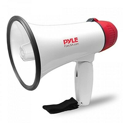 Pyle Megaphone Speaker PA Bullhorn with Builtin Siren Adjustable Volume Control