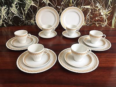 HUTSCHENREUTHER Germany LUCINA Gold, edles 18 tlg Kaffeeservice - 6 Personen