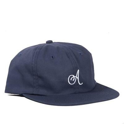 Alltimers Cap Classic A Navy Unstructured Strapback Skateboard Dad Hat OSFM