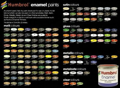 HUMBROL ENAMEL PAINT SMALTO 14ml - 18 ORANGE GLOSS - NUOVO