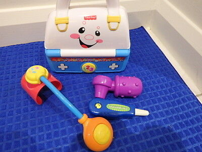 Fisher Price Talking Educational Music Doctors Medical Bag Ottoscope Thermometer