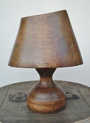 Vintage Wooden Hat Block/Form Rare Shape with Stand, Millinery Display.