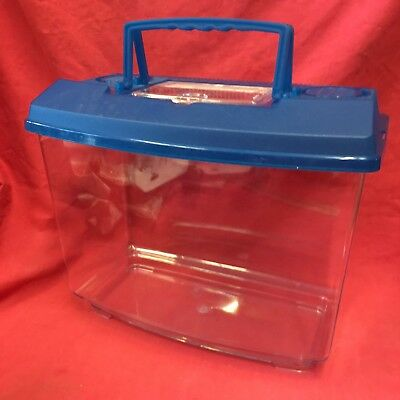 """Plastic Carrying Box 12 x10"""" Removeable Vented Lid Transport Vets Mices Hamsters"""