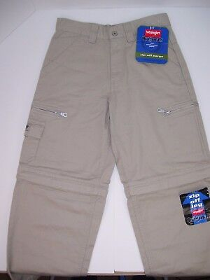 Wrangler Hero Originals Boys 10 Regular Zip off Leg Cargo Pants Tan