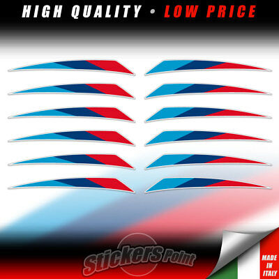 kit 12 Adesivi BANDIERINE BMW MPerformance Motorrad moto auto stickers Flags