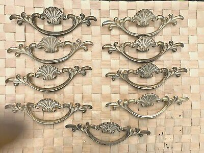 "French Provincial White Shabby  Drawer Pulls  3"" Centers (9)"