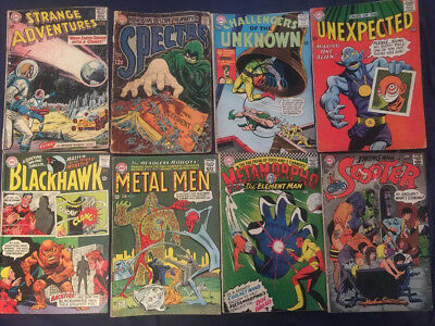 Silver Age DC Comic Lot of 8 Books: Metal Men, Metamorpho, Spectre, Challengers