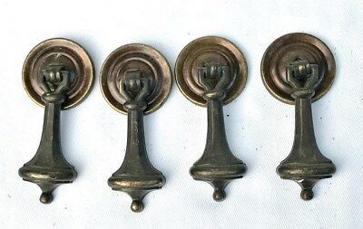 Antique Hardware Mid Century Modern Drawer Pull Brass Cabinet Tear Drop Pull (4)