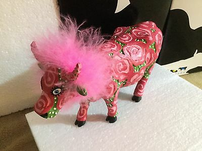 "Cow Parade Figurine "" GlaMOOrus "" ( # 7756 - Retired & RARE )"