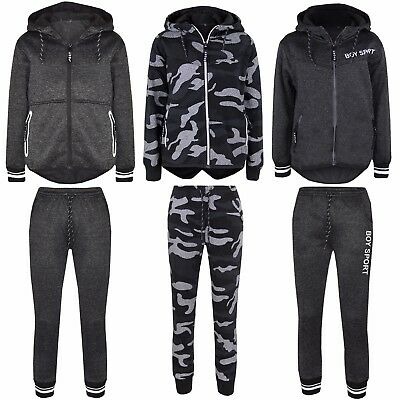 BOYS/GIRLS Designer TRACKSUIT ZIPPED TOP JOGGING BOTTOMS SMART ALL SEASONS