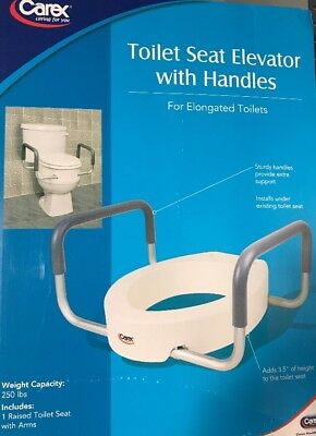 Carex Health Brands Toilet Seat Elevator with Handles for Elongated Toilets , Ne