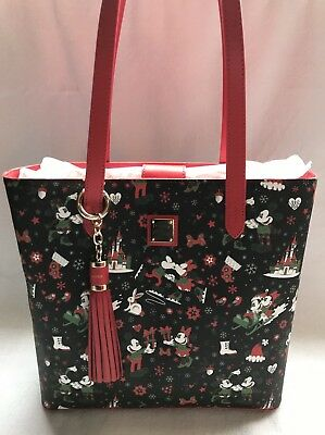 Disney Dooney & and Bourke Christmas Woodland Winter Holiday Tote Purse Bag F