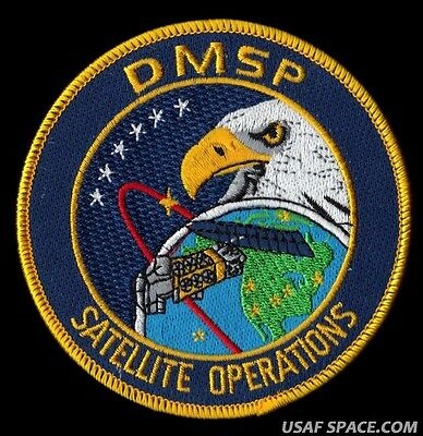 DMSP CLASSIFIED WEATHER SATELLITE Launch and Mission USAF DOD OPERATIONS PATCH