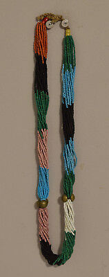 African Necklace Zulu Pink Black Blue Twisted Strand Necklace South Africa
