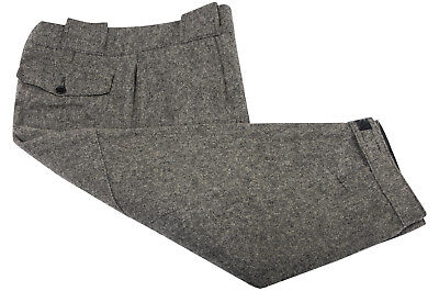 Vintage WOOLRICH Wool Hunting Pants 37 in Cropped Gray Tweed Hook-Loop Breeks