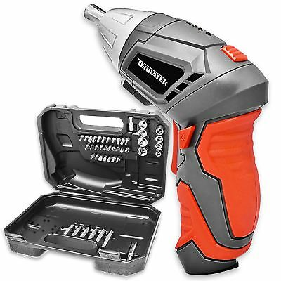 Rechargeable Cordless Electric Screwdriver Drill Power Tool Charger + Bits