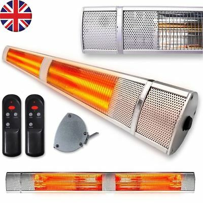 Outdoor Electric Patio Heater Garden Halogen 2500W Wall Mounted Garage Bathroom