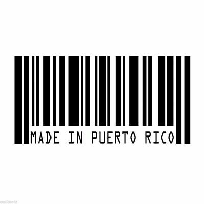 Made In Puerto Rico Barcode UPC - Vinyl Decal GM Chevy Ford Tuner Race JDM