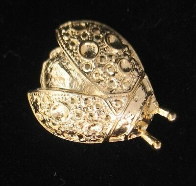 Signed Roman Open Winged Insect Ladybug Brooch 6936