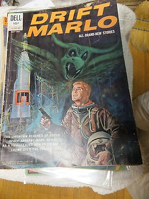 Drift Marlo, Space Detective Nn  Dell 1962  Vg+!  Gorgeous Painted/ Space Suits
