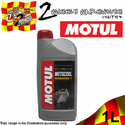 1x 1L MOTUL MOTOCOOL FACTORY LINE ORGANIC+ WINTER ANTI FREEZE SUMMER COOLANT