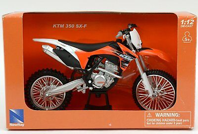 Diecast toy KTM 350 SX-F Dirt Bike Motorcycle 1-12 Model by New Ray