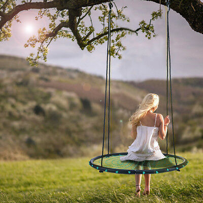 "40"" 100cm Tree Swing, Spider Web Swing,  Outdoor Tire Swing Kids Ring Play Seat"