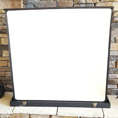 Vintage Portable Movie Projector Screen in Carrying Case Table Top Regal Screens
