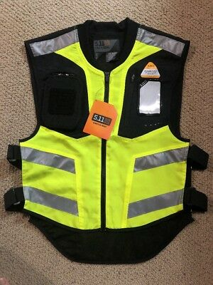 5.11 Tactical Hi-Vis Visability Yellow Packable Vest - Mens Size Regular