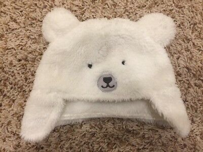 Gently Used Carters Warm Baby Boy Girl Winter Hat With Ears Size 0-3 Months