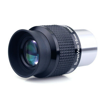 "GSO 1.25"" Wide Angle 15mm Telescope Eyepiece FMC Lens for Astronomy AU STOCK"