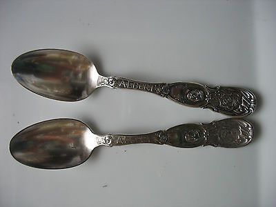 PR OLD KING ALBERT Souvenir Spoon BELGIUM CREST Wm. A ROGERS WWI era