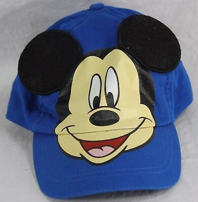 Disney Mickey Mouse Boys 100% Cotton Baseball Cap Youth Size Velcro Back Blue