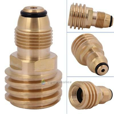 1x Converts Propane LP TANK POL Service Valve to QCC Outlet Brass Adapter New