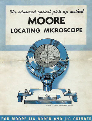 Moore Locating Microscope Owners / Instruction Manual Copy Jig Grinder / Borer