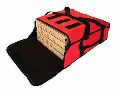 "Pizza Delivery Bags Thick Insulated (Holds up to Five 16"" or Four 18"" Pizzas)."