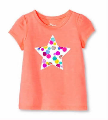NWT Circo Girls Orange Star Short Sleeve Shirt 3T 4T 5T