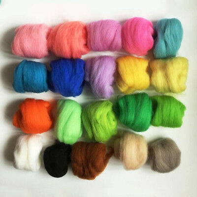 36 Colors Wool Fibre For Needle Felting Hand Dyed Spinning Fun Doll Needlework