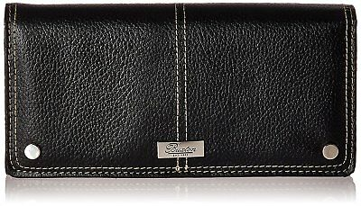 New Buxton Womens High Quality Leather Westcott Expandable Clutch Wallet