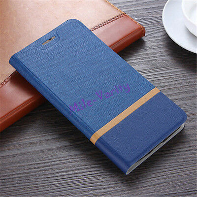 For Meizu M6 M5 Note PU Leather Magnetic Flip Card Slot Wallet Stand Case Cover