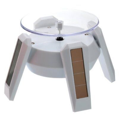Foxnovo Solar/AA Battery Powered 360 Degree Rotating Display Stand Turntable for