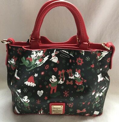 Disney Dooney & and Bourke Christmas Woodland Winter Holiday Tote Purse Bag 4
