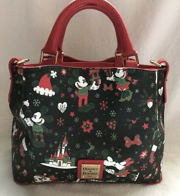 Disney Dooney & and Bourke Christmas Woodland Winter Holiday Tote Purse Bag 5